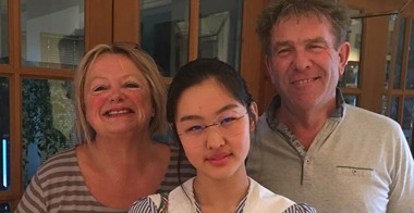 Learn English with English Language Homestays Host Family with a student