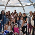 Summer School students inside London Eye