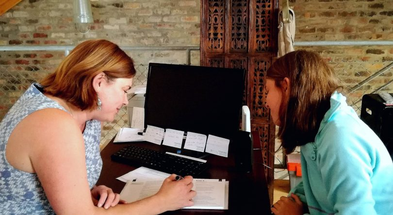Insegnante di lingue inglese, insegnante Marike Colyn