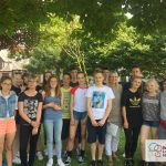 Summer school English Language Homestays students with a teacher