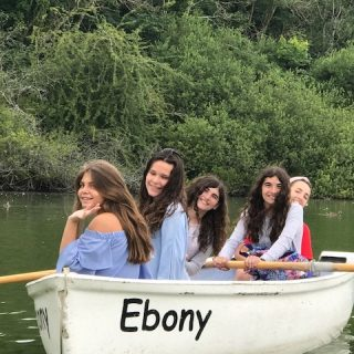 Summer School students in boat trip