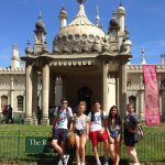 Summer School students in front of Brighton Royal Pavilion