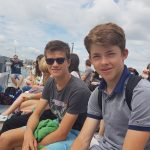Summer School students in Harbour Tour in Portsmouth Harbour