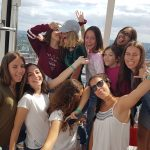 English Language Homestays Students, Summer school students at London Eye