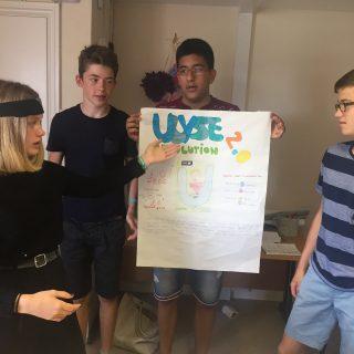 Studenti della Summer School in una presentazione
