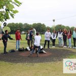 Summer school English Language Homestays students in swings