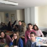 Summer school English Language Homestays student in the class