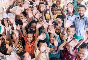 School Kids receiving The Ju/'hoansi Development Fund