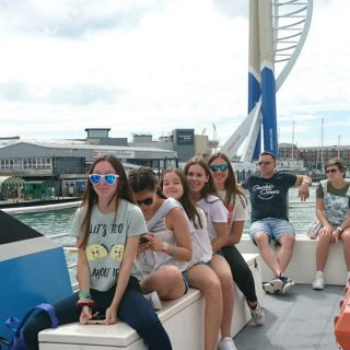 Summer School students taking part in Portsmouth Harbour Tour