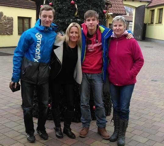 Sacha stone con i nostri studenti Homestay UK