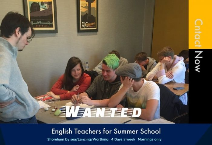 Job Listing | English Teachers for Summer School