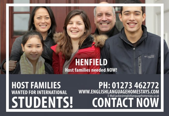 Host families wanted in Henfield