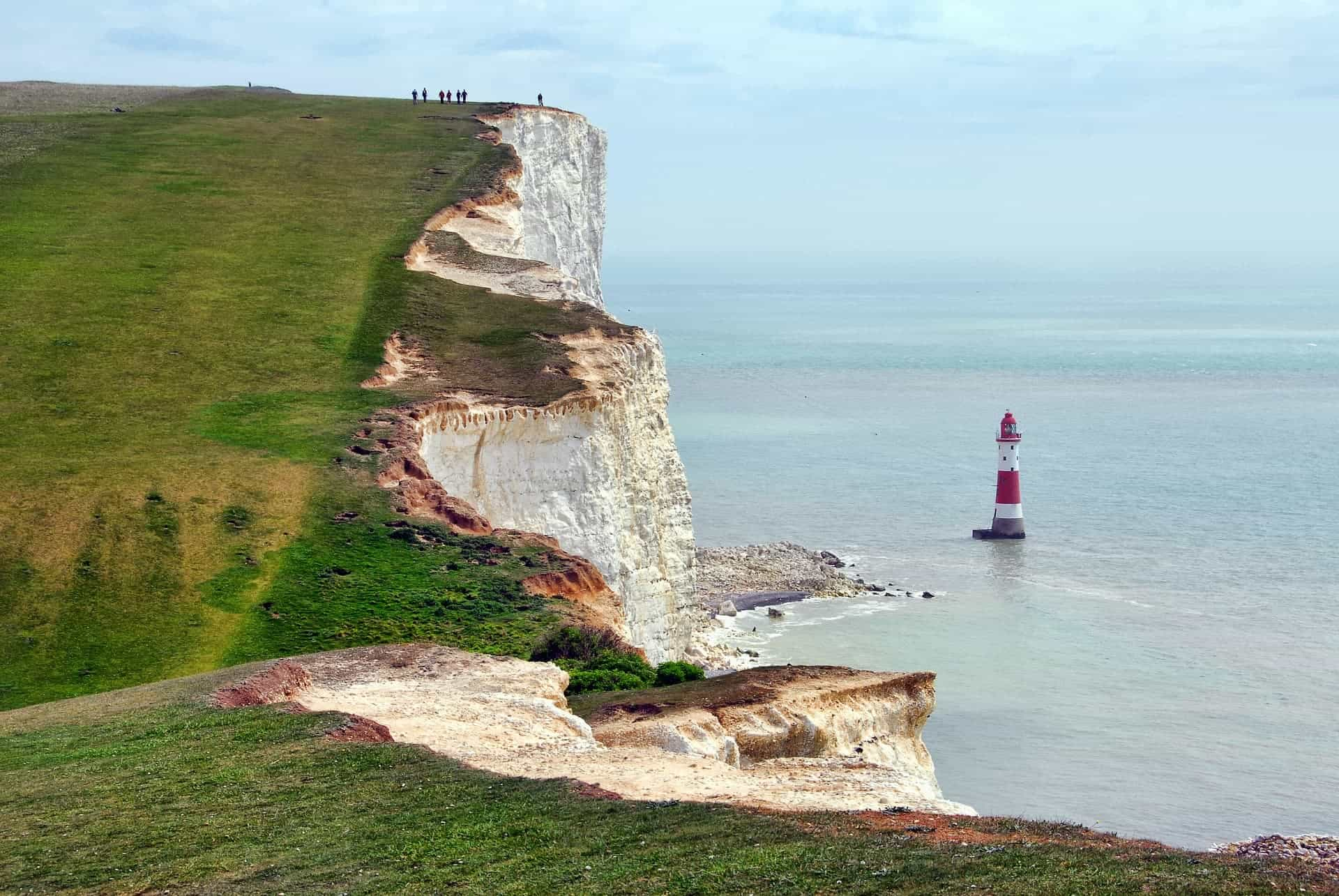 Beachy Head is a chalk headland in East Sussex