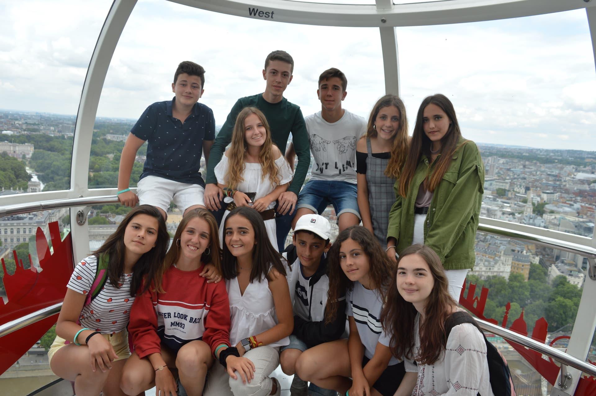 Students in London Eye - marlborough college summer school