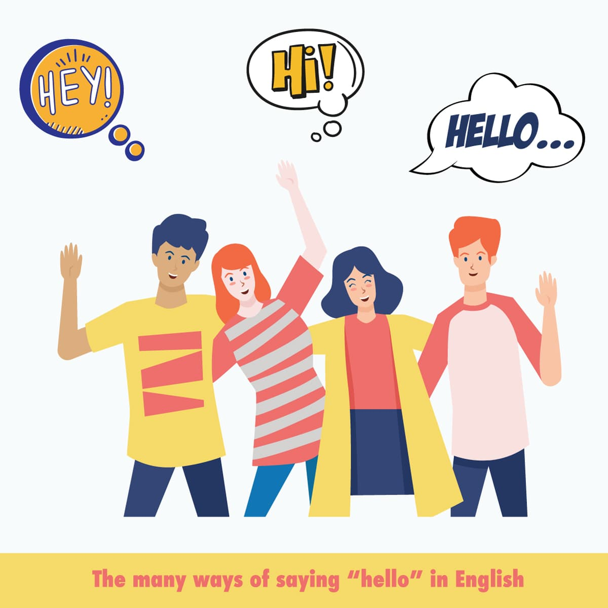 "The many ways of saying ""hello"" in English"